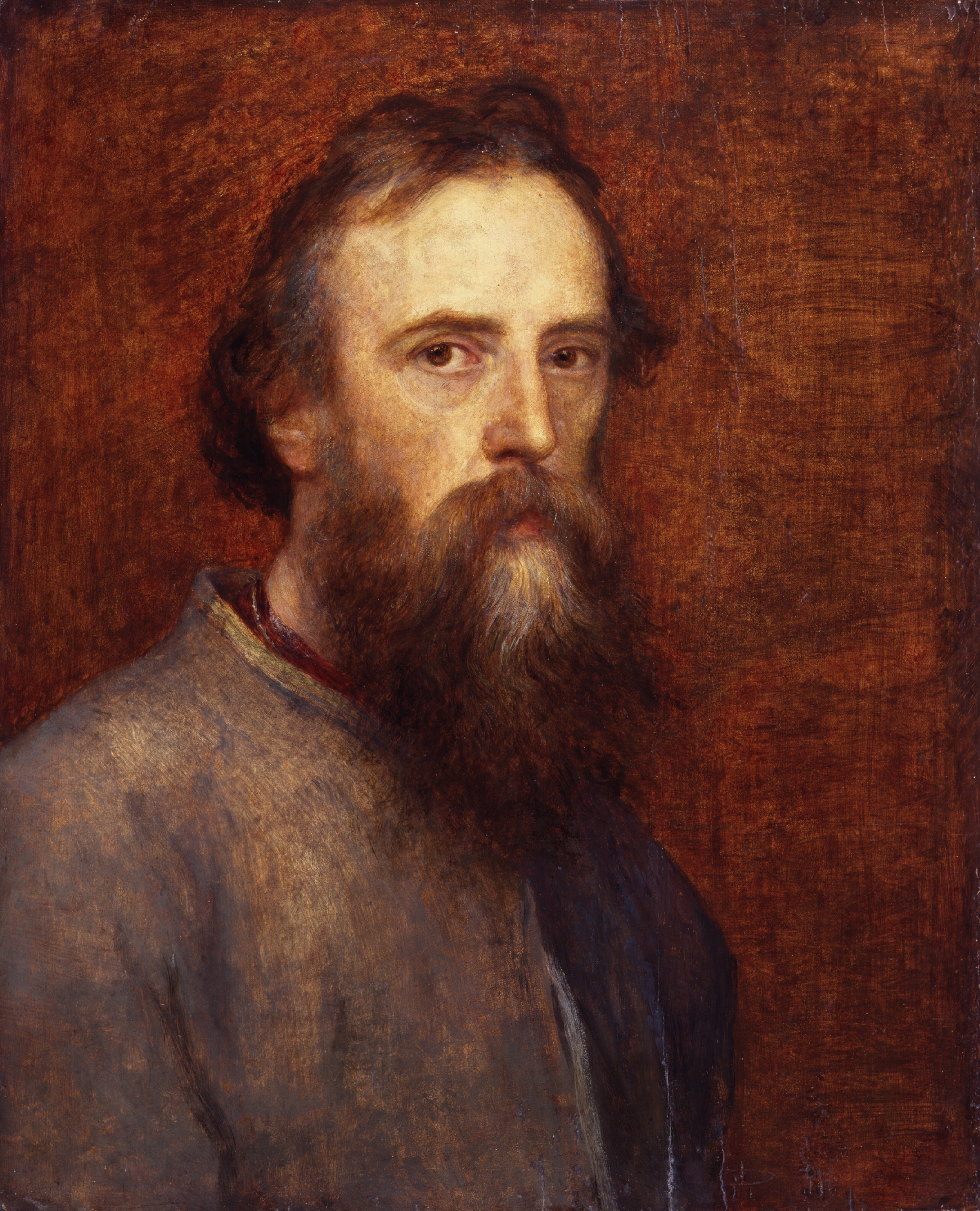 Self portrait by George Frederic Watts, oil on panel, c.1860 © National Portrait Gallery, London
