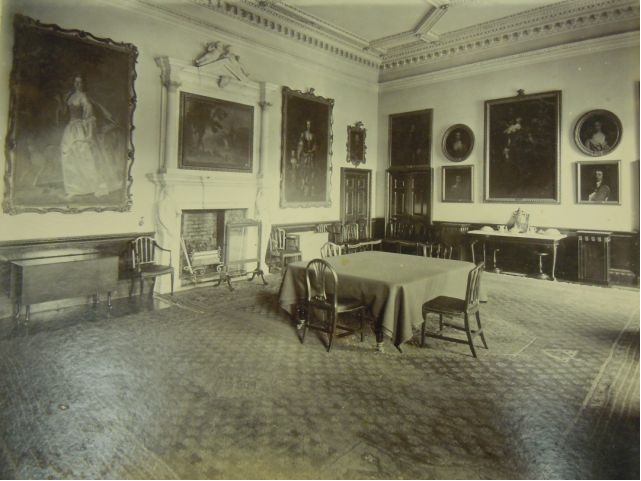 Photograph of the painting in situ in the dining room of Hartwell House, Aylesbury. Image courtesy of Centre for Buckinghamshire Studies, from an undated album, thought to be late nineteenth century