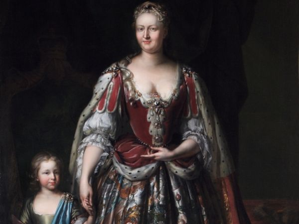 Queen Caroline of Ansbach (1683–1737), with her son, later the Duke of Cumberland, c.1730. © Richmond upon Thames Borough Art Collection