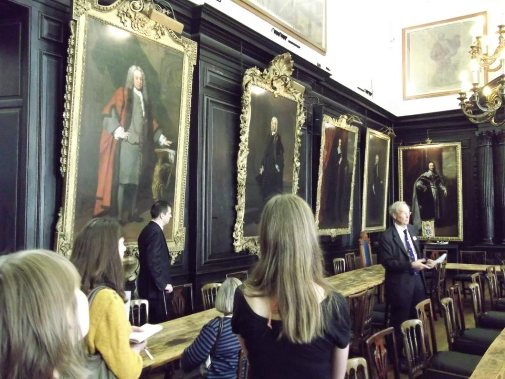 The tour of Apothecaries Hall with Dr John Ford