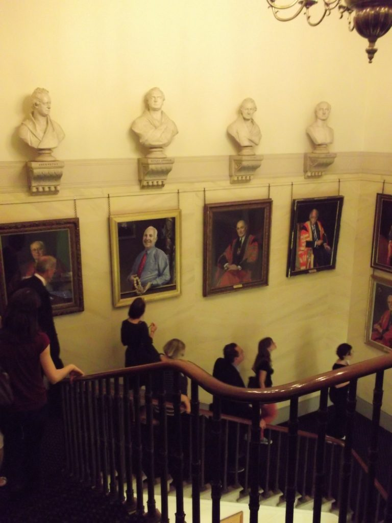 The group at the Royal College of Surgeons of England