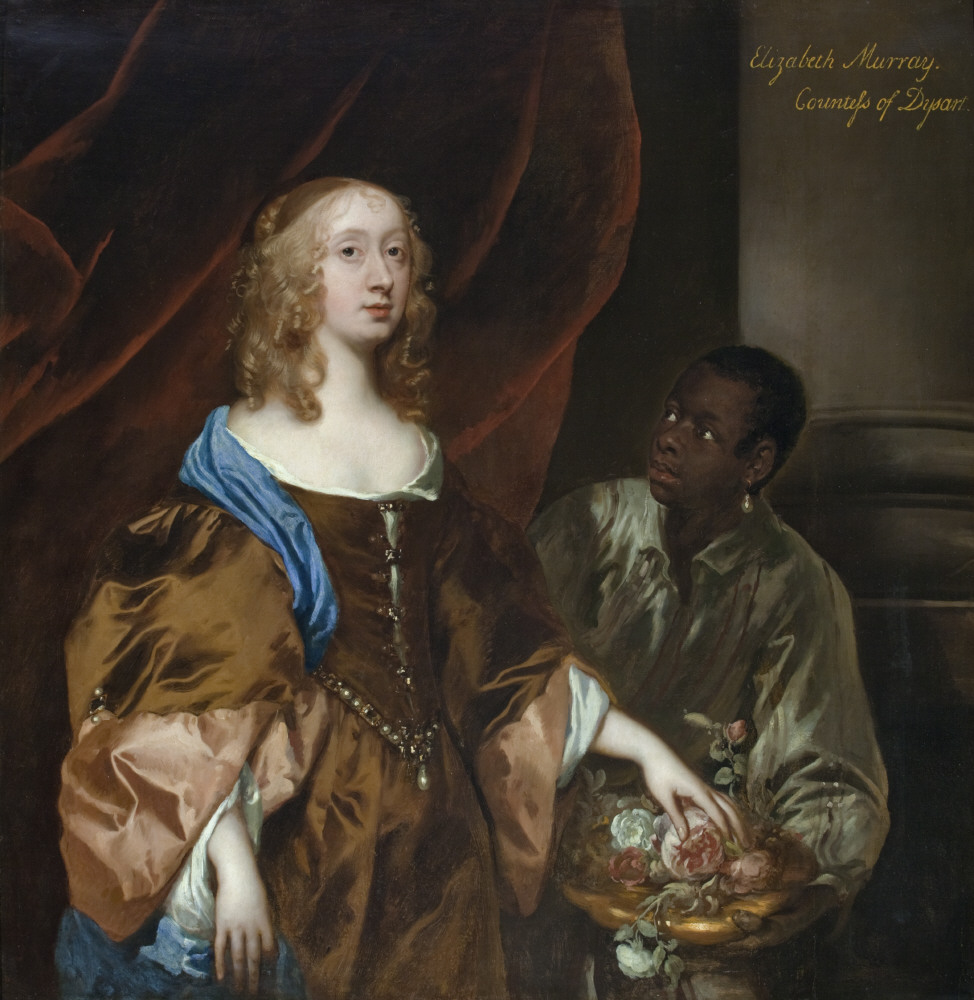 Elizabeth Murray, Lady Tollemache, later Countess of Dysart and Duchess of Lauderdale (1626-1698) with a black servant, by Sir Peter Lely, c1651 Ham House and Gardens, Richmond-upon-Thames ©National Trust Images/John Hammond