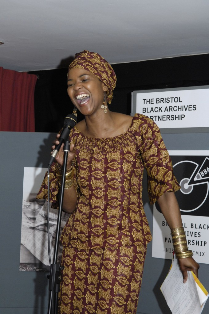 Sherrie Eugene, TV presenter, at the BBAP official launch, March 2007 © Bristol Black Archives Partnership/Bristol Record Office