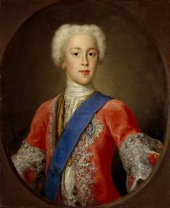 Prince Charles Edward Stewart (1720-1788). Eldest son of Prince James Francis Edward Stewart, by Antonio David, 1732. © Scottish National Portrait Gallery
