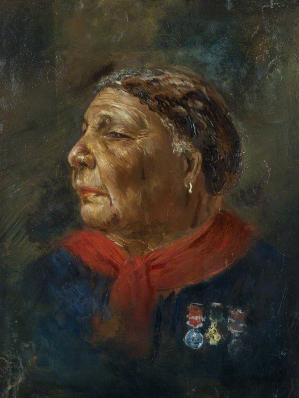 Mary Jane Seacole (née Grant) (1805-1881), Jamaican nurse, adventurer and writer, by Albert Charles Challen (1847-1881), oil on panel, 1869. © National Portrait Gallery, London; Purchased with help from the National Lottery through the Heritage Lottery Fund, and Gallery supporters, 2008