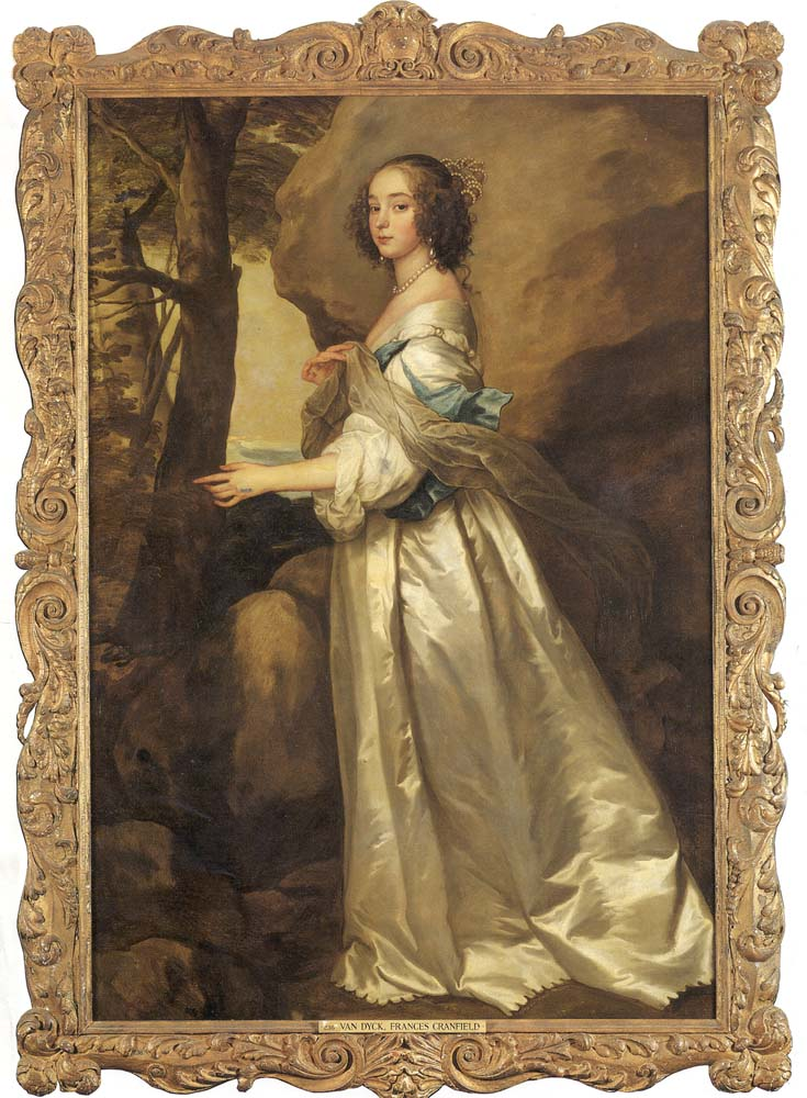 Lady Frances Cranfield, Lady Bathurst, later Countess of Dorset (d.1687) by Sir Anthony Van Dyck 1599 -1641), oil on canvas, c.1637. National Trust, Knole, Kent. © National Trust Images/Cristian Barnett