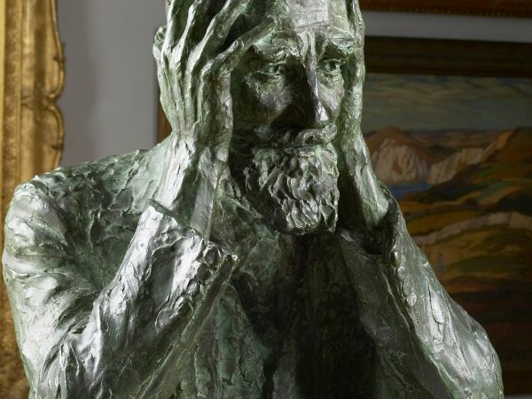 Bronze bust of George Bernard Shaw, by Lady Kennet, Kathleen Scott, c. 1930-1940, Russell-Cotes Art Gallery and Museum