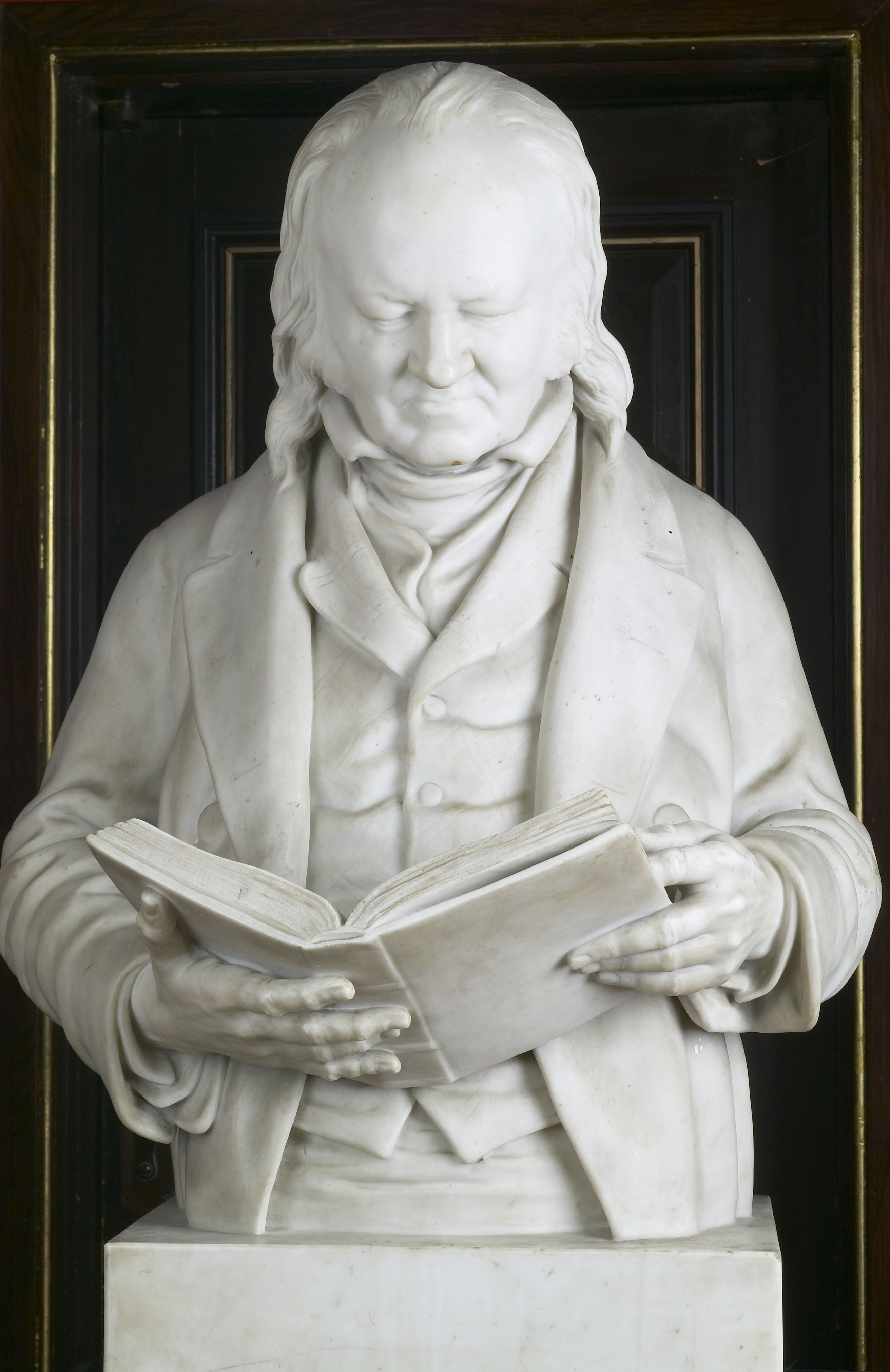 Marble bust of John Landseer, by John Adams-Acton, 1882, Russell-Cotes Art Gallery and Museum