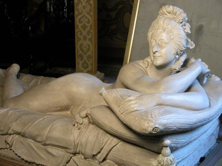 Giovanna Francesca Antonia Guiseppe Zanerini, called La Baccelli (d1801), plaster, attributed to Giovanni Battista (John Baptist) Locatelli (1734 -1805). National Trust, Knole, Kent © National Trust Images