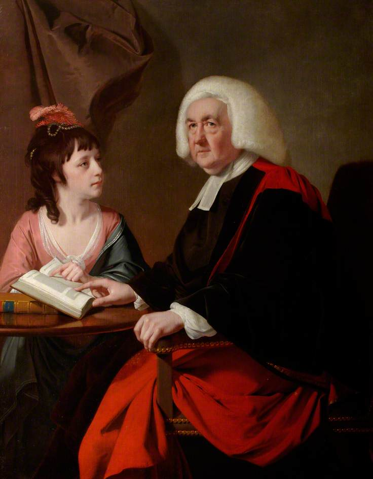 The Reverend Thomas Wilson (1703–84) and Miss Catherine Macaulay (1731–91) by Joseph Wright of Derby © Chawton House Library