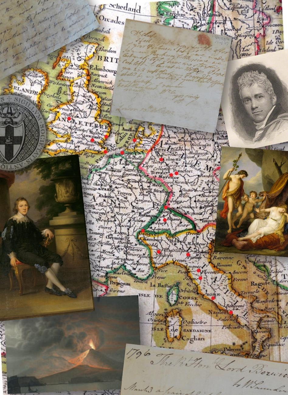 Map, images and letters of Lord Berwick's Grand Tour