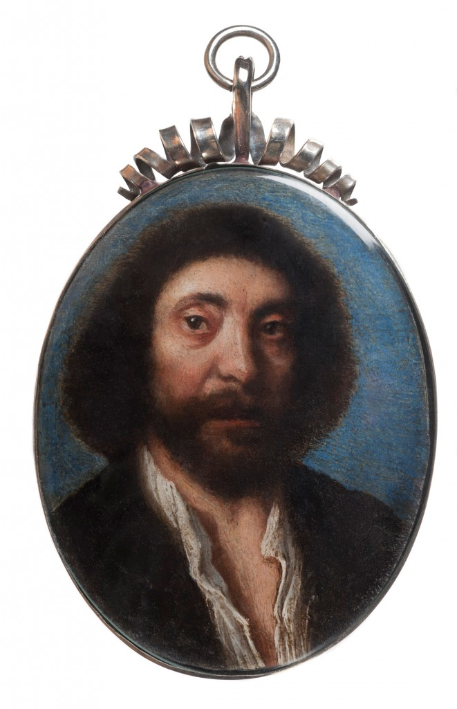 Portrait miniature of John Tradescant the younger by unknown artist, oil on silver, late seventeenth century. Bought with the assistance of the Art Fund, the Beecroft Trust and private donations © The Garden Museum