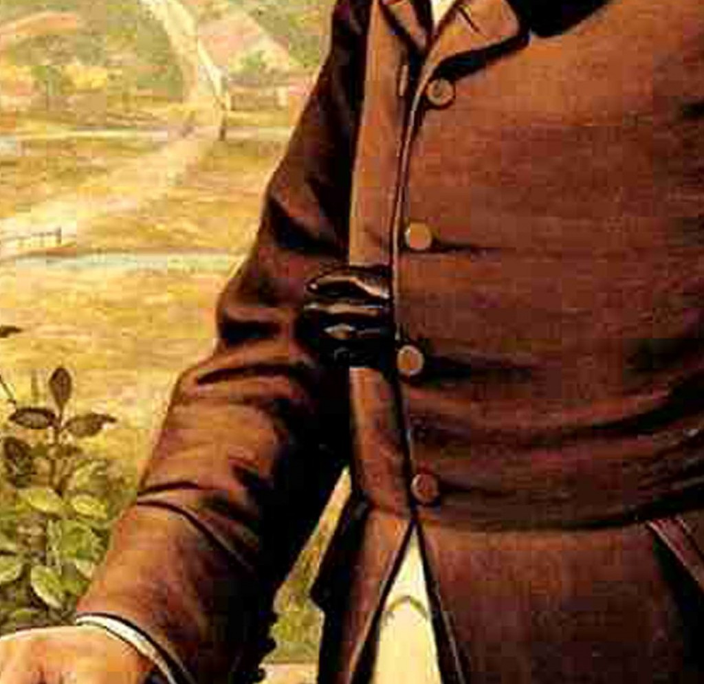 Emperor Dom Pedro I of Brazil (1798-1834) by Benedito Calixto (1853-1927), 1902 (detail), Museu Paulista Collection, University of São Paulo, Brazil