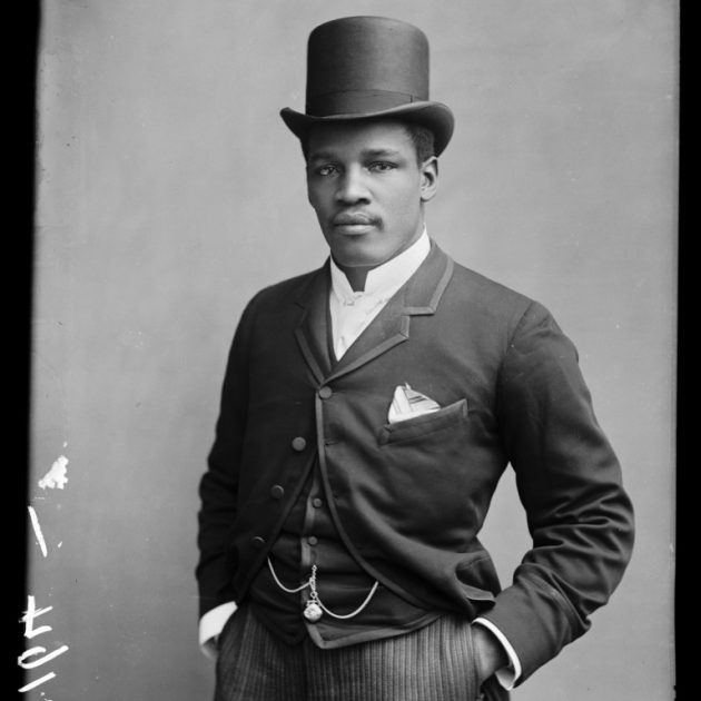 Peter Jackson, 1889. London Stereoscopic Company. Courtesy of © Hulton Archive/Getty Images