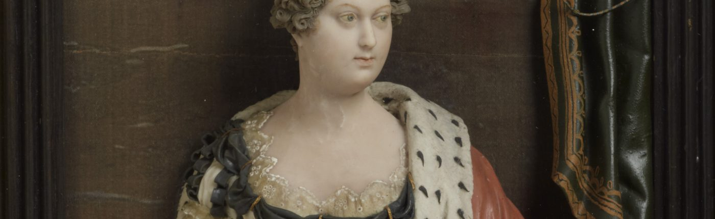Princess Charlotte Augusta of Wales (1796-1817) by Samuel Percy, coloured wax relief, 1814 © National Portrait Gallery, London