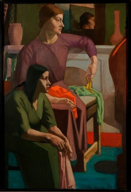 The Seamstresses by John Currie (1883-1914), 1913, oil on canvas, University of Leeds Art Collection. Image © University of Leeds