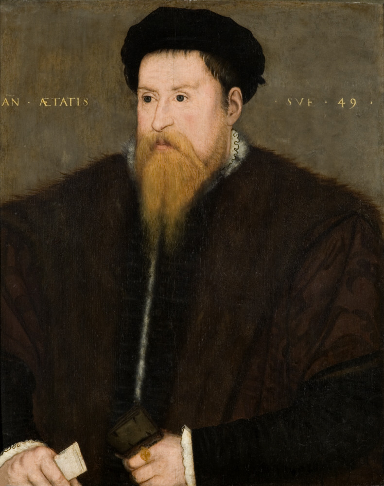 Sir Nicholas Throckmorton (1515-1571), aged 49, by British (English) School, 1564, oil on panel. Coughton Court, Warwickshire © National Trust Images/John Hammond. This is Coughton Court's earliest portrait.