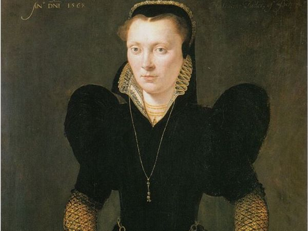 Katheryn of Berain by Adrian Van Cronenburgh, oil on panel, 1568. National Museum Wales, Cardiff.