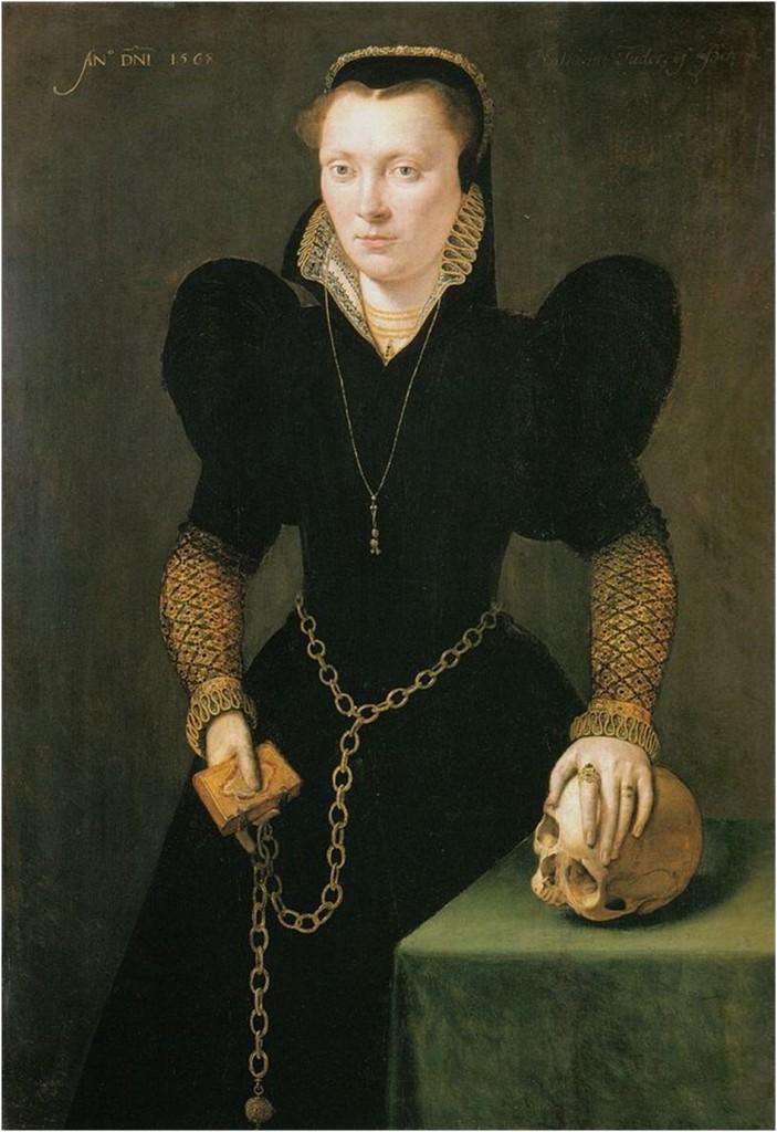 Katheryn of Berain by Adrian Van Cronenburgh, oil on panel, 1568. National Museum Wales, Cardiff.