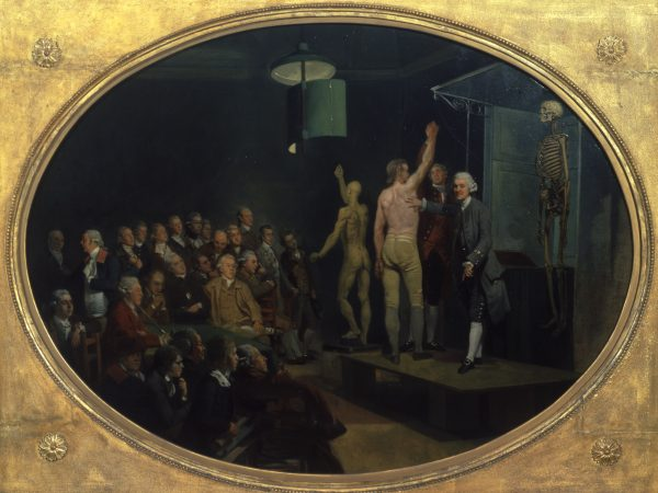 Dr William Hunter lecturing by Johan Zoffany, c.1770-1772. Royal College of Physicians, London