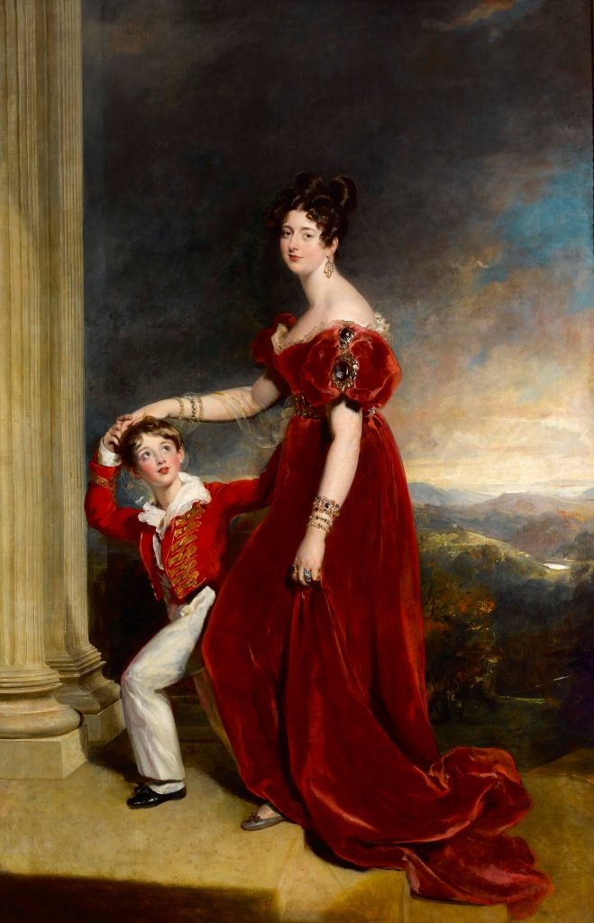 Lady Frances Anne Emily Vane-Tempest, Marchioness of Londonderry (1800-1865) and her son George Henry Robert Charles William Vane-Tempest, Viscount Seaham, later 5th Marquess of Londonderry (1821-1884) by Sir Thomas Lawrence, PRA (1769–1830), 1828. Mount Stewart, co Down, Northern Ireland © National Trust / Bryan Rutledge