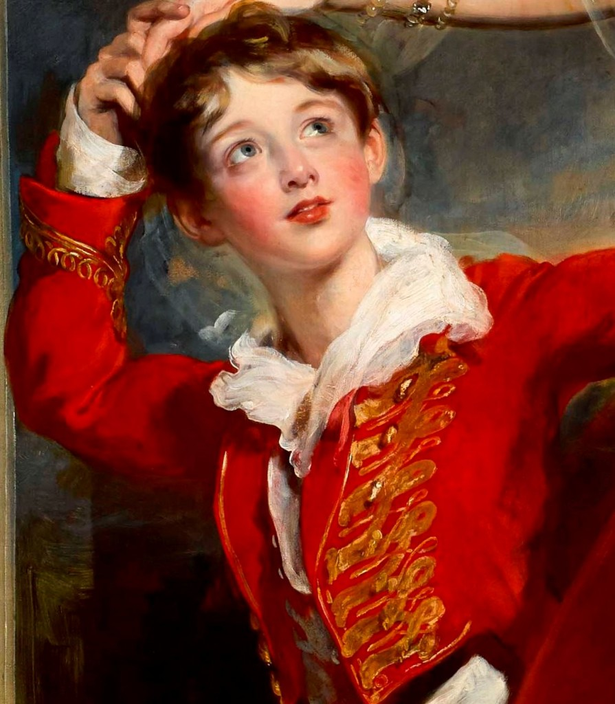Lady Frances Anne Emily Vane-Tempest, Marchioness of Londonderry (1800-1865) and her son George Henry Robert Charles William Vane-Tempest, Viscount Seaham, later 5th Marquess of Londonderry (1821-1884) (detail) by Sir Thomas Lawrence, PRA (1769–1830), 1828. Mount Stewart, co Down, Northern Ireland © National Trust / Bryan Rutledge