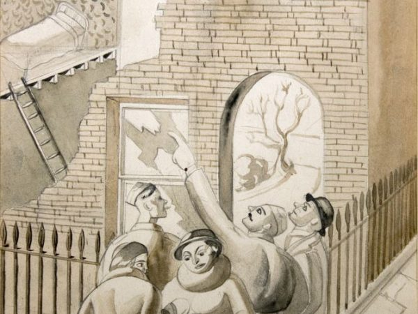 Colin Moss, Morning After The Blitz, pencil and watercolour on paper, 1940 ©Colin Moss (Courtesy of Leamington Spa Art Gallery & Museum)