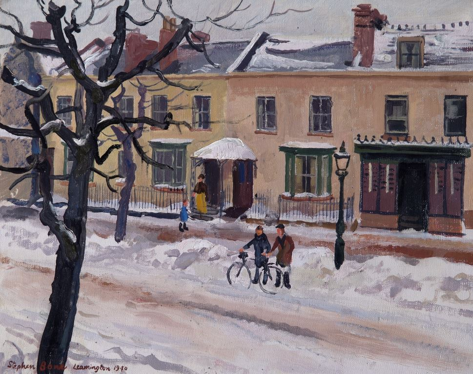 Leamington by Stephen Bone, oil on canvas, 1940 (Courtesy of Leamington Spa Art Gallery & Museum)