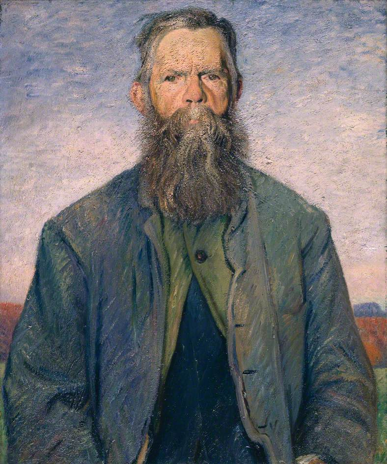 Eli the Thatcher, 1913, Manchester City Art Galleries © the artist's estate / Bridgeman Images. Photo credit: Manchester City Galleries