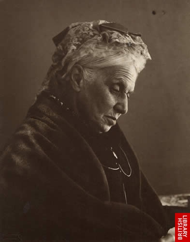 Anne Jemima Clough by Eveleen Myers, platinum print, 1890 Copyright © The British Library Board [Add. MS 72824B f.6]