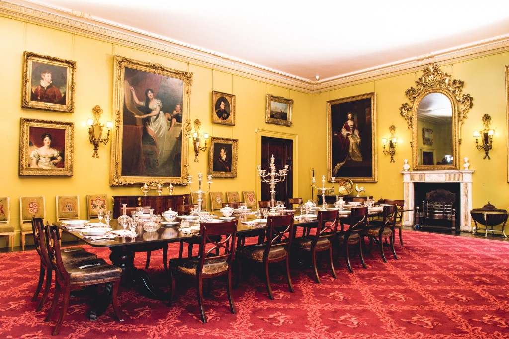 The Dining Room at Mount Stewart where four of Lawrence's portraits are now hung