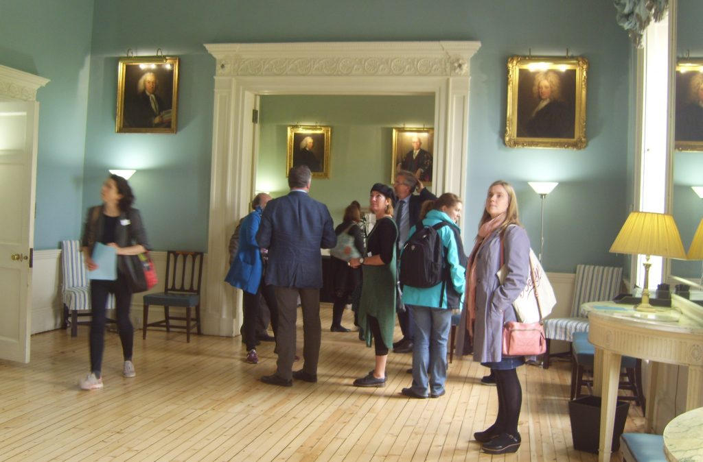 Members of the 'Understanding British Portraits' network at the Royal College of Physicians in Edinburgh, part of the Portrait Collections in Edinburgh event 18 September 2015