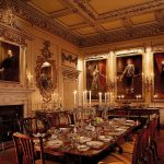 The State Dining Room, Woburn Abbey, displaying examples of Van Dyck portraits in the collection © Jarrold Publishing and Woburn Abbey.