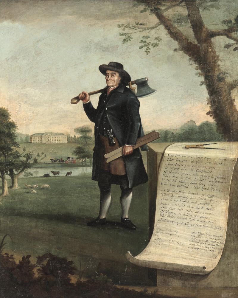 Edward Prince (b.1718/19), carpenter, aged 73 by John Walters of Denbigh (1721 -97), Erddig, Wrexham © National Trust Images