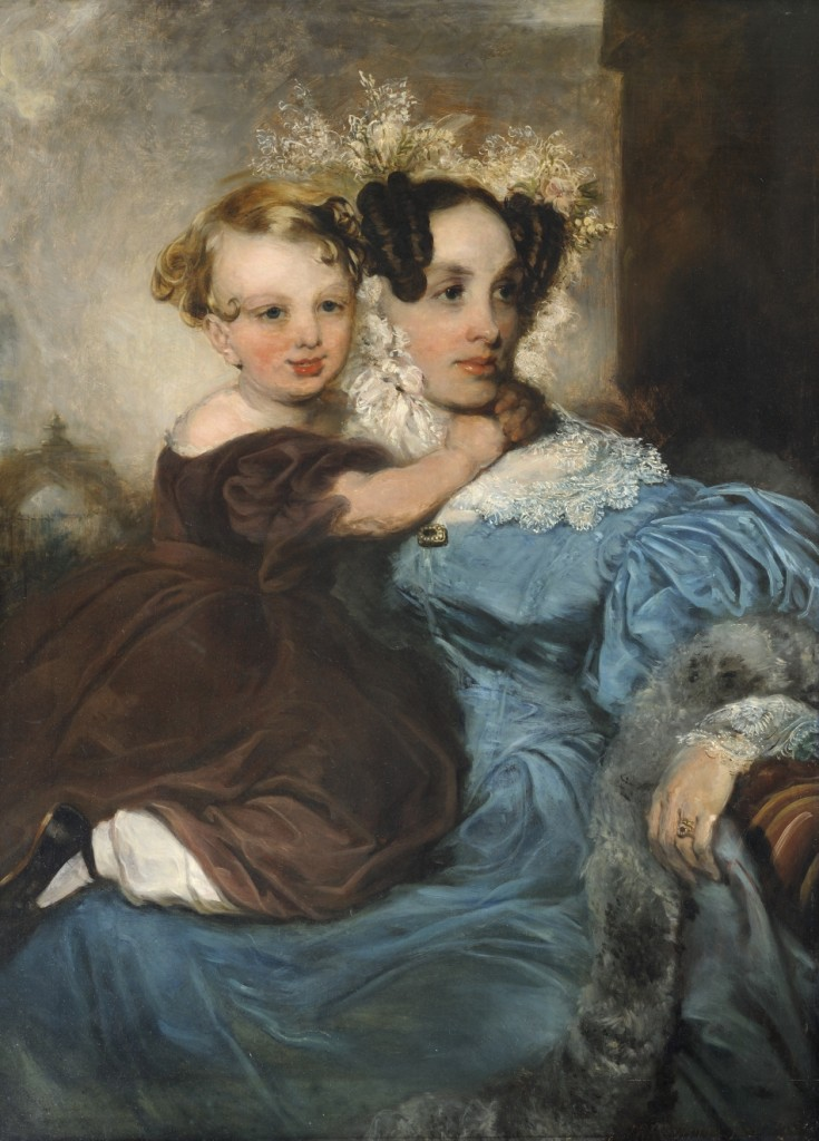 called Portrait of Mrs Mary Linsdell (b1805) and her daughter Annie (b1841) by John Robert Wildman (1788—1843) © Valence House Museum