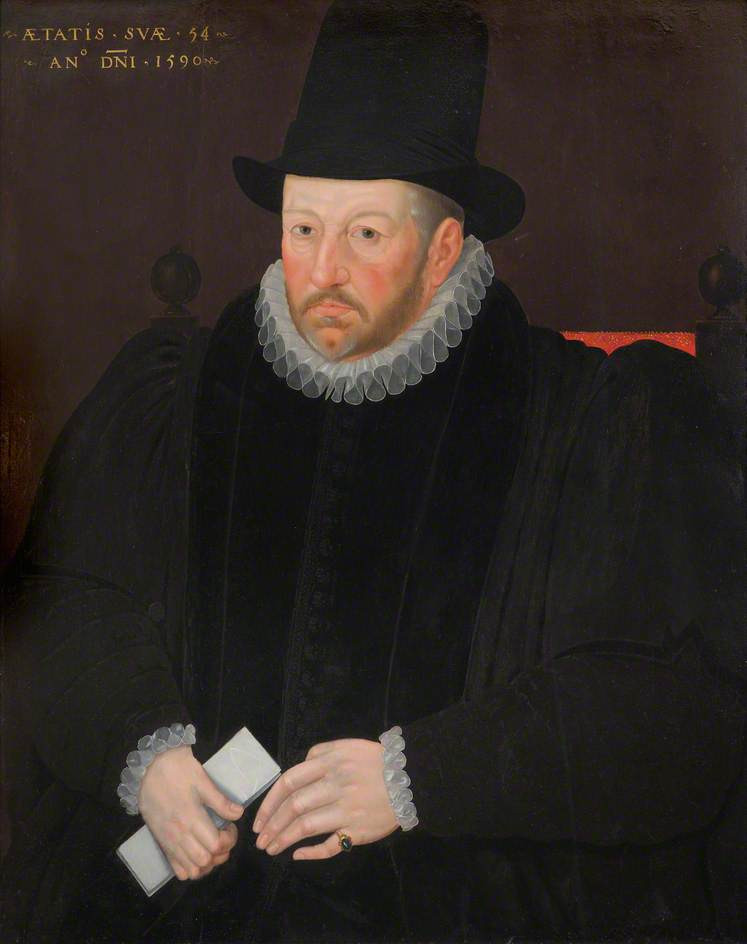 Thomas Fanshawe (1533–1601), Second Remembrancer of the Exchequer by Marcus Gheeraerts the younger © Valence House Museum