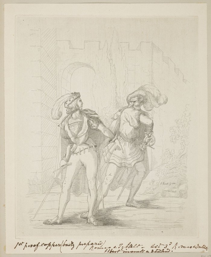 Romeo and Tybalt by Prince Albert, 16 September 1840, RCIN 816031. Royal Collection Trust © Her Majesty Queen Elizabeth II 2016