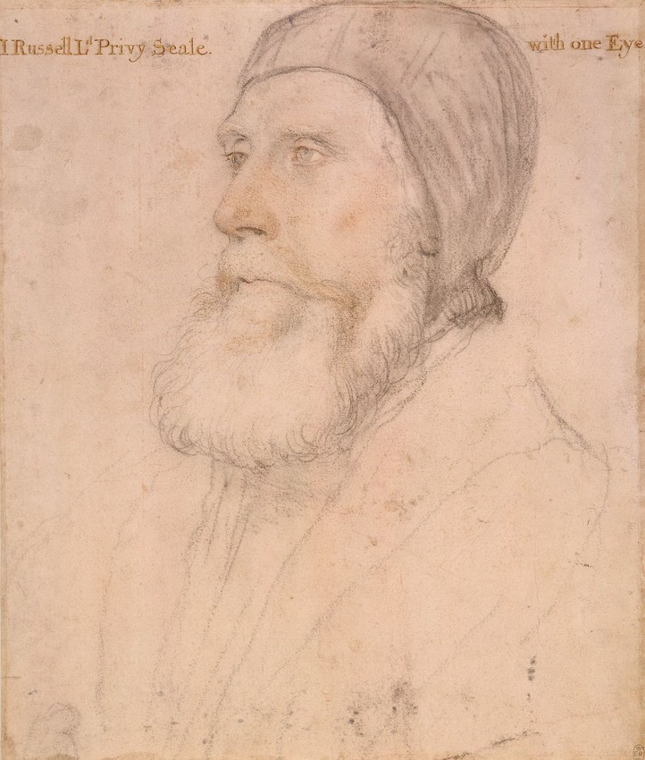 John Russell, 1st Earl of Bedford by Hans Holbein the Younger, c.1532-43, RCIN 912239. Royal Collection Trust © Her Majesty Queen Elizabeth II 2016