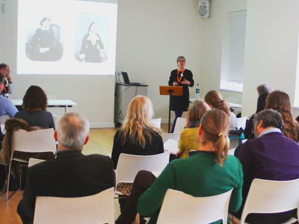 Caroline Smith, Education and Outreach Officer, Museum of the Mind, speaking at the workshop