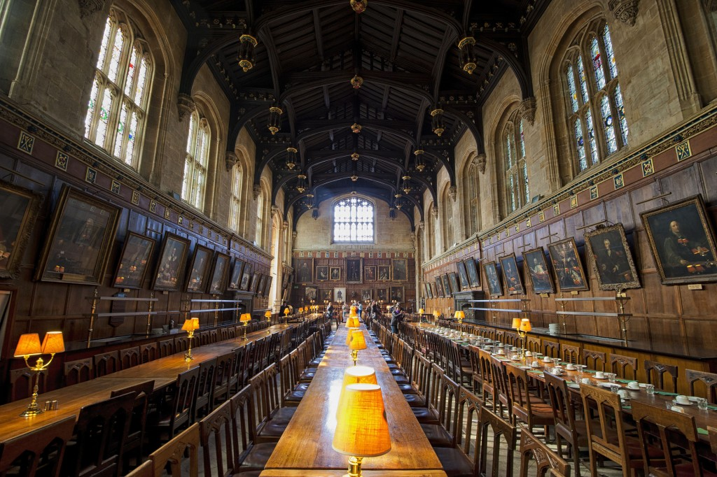 The Great Hall in Christ Church. By Permission of the Governing Body of Christ Church, Oxford