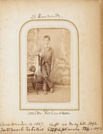 Walter Richardson, fostered orphan, 1892, by H. & C. Banyard & Co. © Museum of London