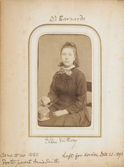 Ellen Vickery, fostered orphan, 1891 © Museum of London
