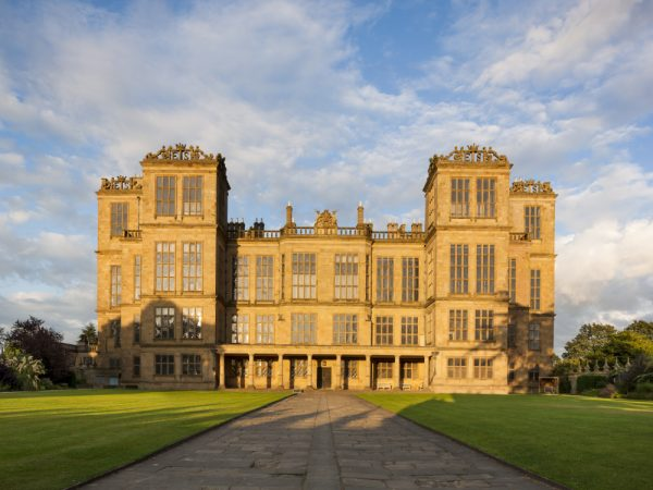 View of the west front of the Hall, seen from the Gatehouse, at Hardwick Hall, Derbyshire © National Trust Images/Andrew Butler