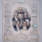 The Five Rothschild brothers, lithograph by Hermann Raunheim, after a portrait by Moritz Daniel Oppenheim, Paris, 1852. Collection of The Rothschild Archive London.