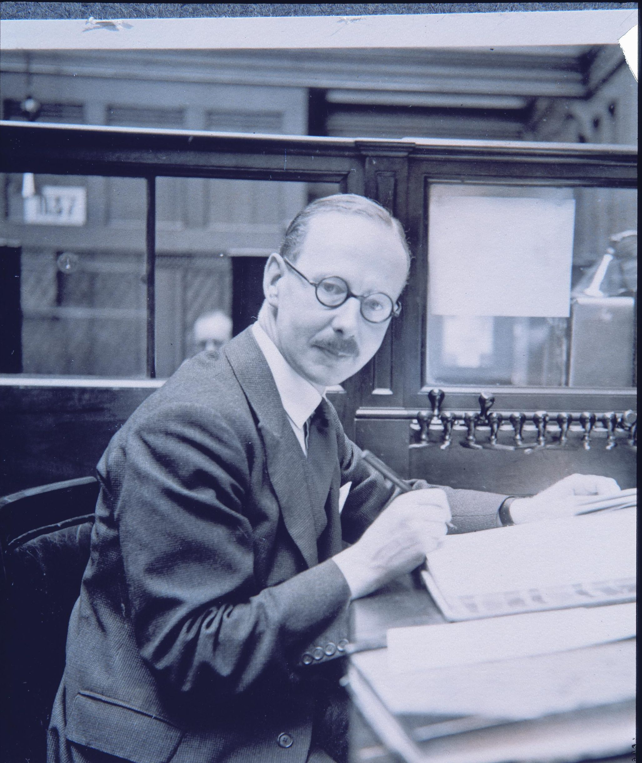 Mr Scott, Rothschild clerk, from a privately compiled album of photographs of New Court staff, c.1937. Courtesy of The Rothschild Archive London.