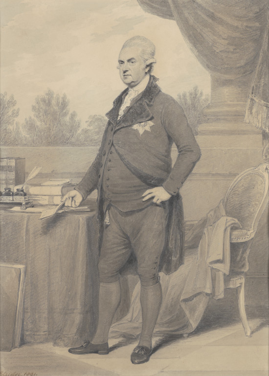 Henry Edridge, George Macartney, 1st Earl Macartney, 1801, wash drawing, 32 x 23 cm. © UK Government Art Collection