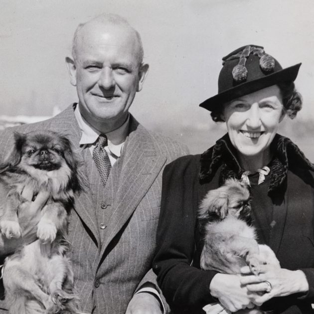 P.G. Wodehouse, novelist, and his wife Ethel May Wayman Wodehouse, by unknown photographer bromide press print, 1944 © National Portrait Gallery, London.