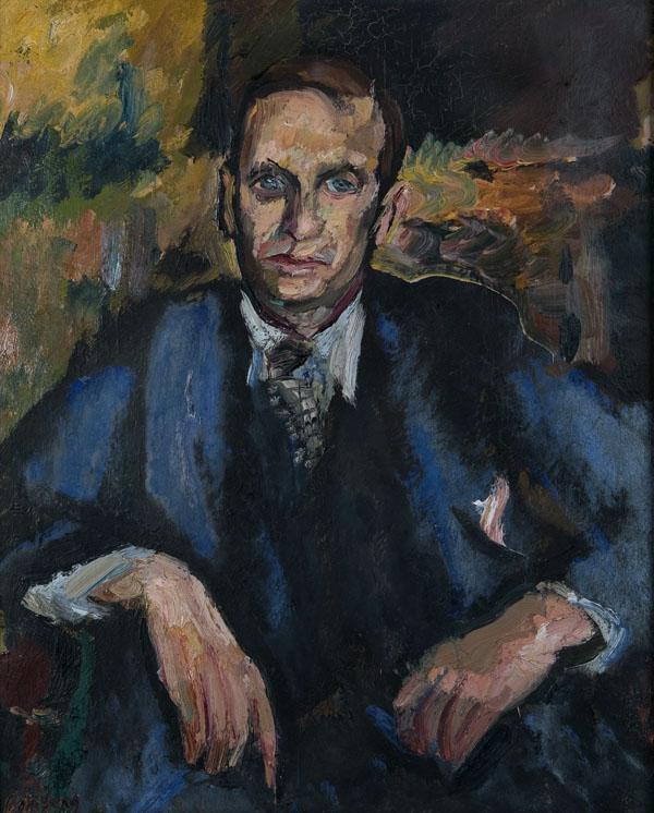Portrait of John Rodker by David Bomberg, c. 1936, Ben Uri Gallery and Museum