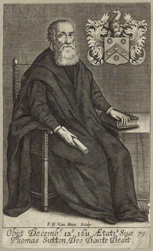 Portrait of Thomas Sutton, 1677, engraved by Frederick Hendrik van Hove (c. 1628-98). Courtesy of The Charterhouse