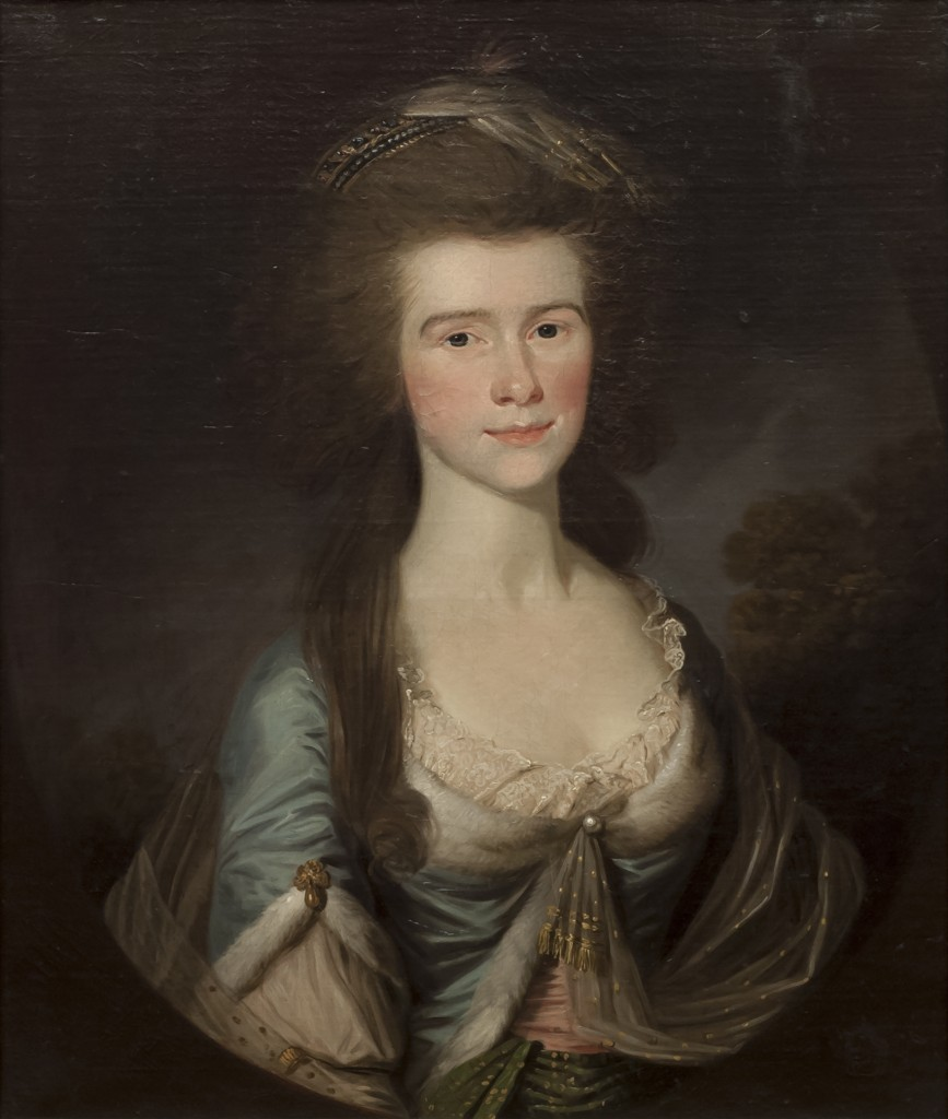 Portrait of Penelope Bayley (1759-1825), artist unknown, c.1785-94, Grosvenor Museum, Chester